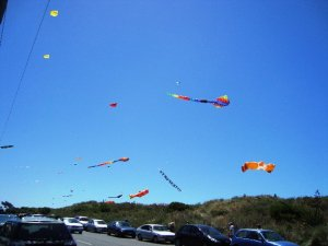 Kites above New Brighton Beach