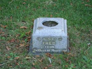 Fred's gravestone
