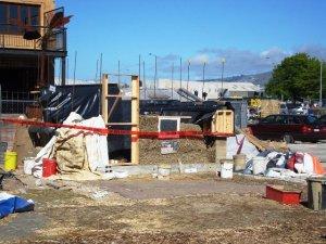 Farm shed under construction