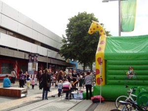 Bouncy castle for the children