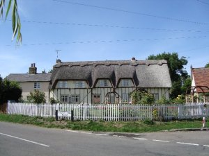 Thatched cottage at Pirton in Hertfordshire