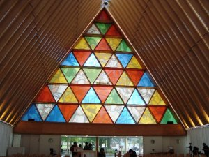 Window of Transitional Cathedral