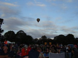 Balloon above the crowd