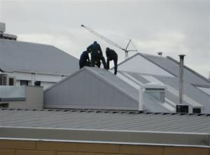 Men on roof