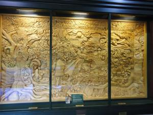 Carved mural
