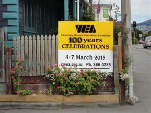 WEA Centennial sign