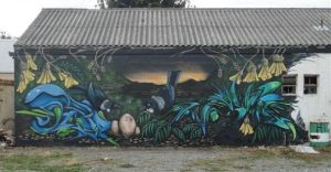 Mural oppostie Armagh Automotive