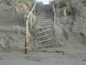 Collapsed walkway