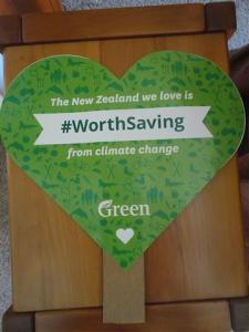 Green placard