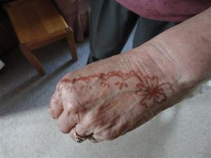Hennaed hand