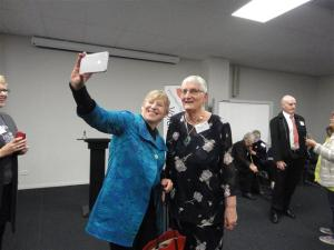 Mayor's selfie with Ruth (Small)