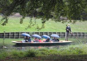 Punting with umbrellas (Small)