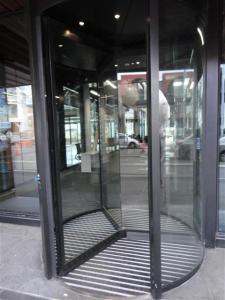 Revolving door in Tuam Street
