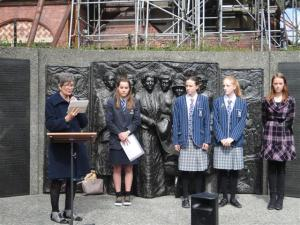 Award-winning poets at today's Suffrage celebrations