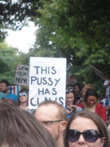 Another good placard.  The obscured word is 'CLAWS'